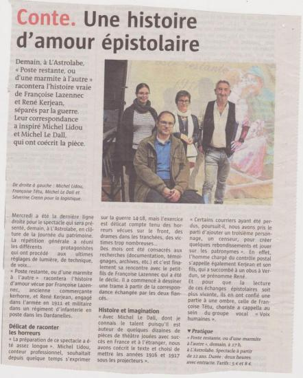 Article presse spectacle