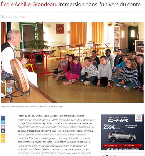 atelier contes à l'école A.Grandeau janvier 2007