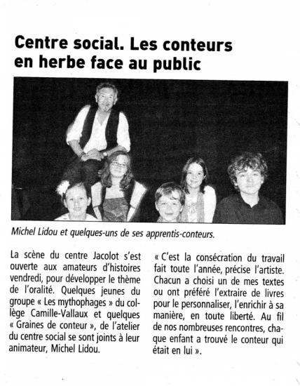 article spectacle du 24 juin-2011