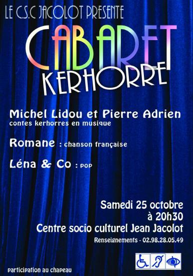 Cabaret kerhorre oct 2014